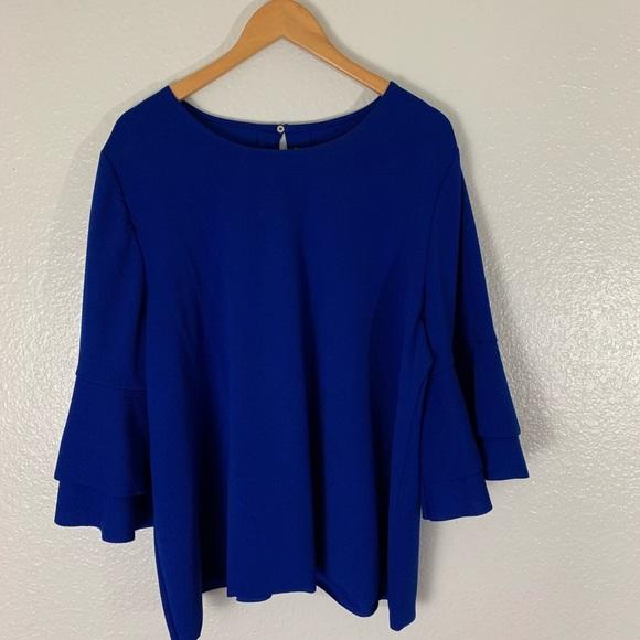 11f5871be8bdcb Lane Bryant Tops - Lane Bryant   Blouse Bell Sleeve Top Cobalt Blue